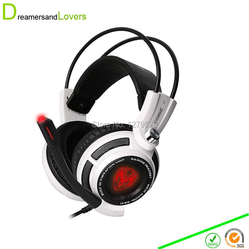 7.1 Surround Sound Stereo Over-the-Ear Gaming Headset with Noise Reduction Microphone LED Lighting, Smart Vibration for Computer faulkner the sound
