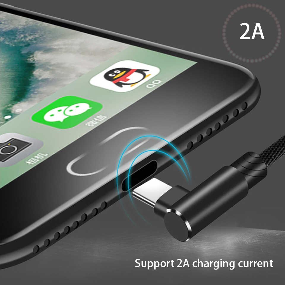 90 градусов Тип usb C кабель 1 м 2 м 3 м для спортивной камеры Xiao mi 8 mi 6 mi 5 mi Max 2, 3, ремешок mi x 2 S A1 6X 5X Примечание 3 USB-C Tipe C для быстрой зарядки и синхронизации 3A