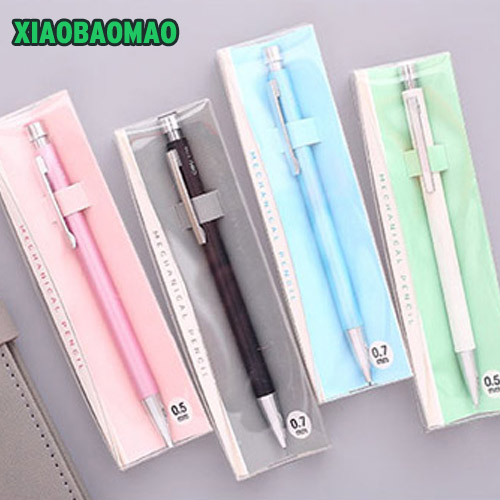Boxed Cute Macaron Colors 0.5mm 0.7mm Student Office Drafting Metal Mechanical Pencil for drawing prospector boxed rtf