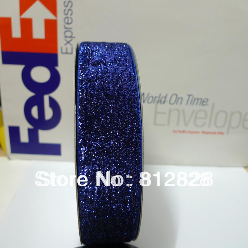 1 5 38mm 26 navy blue glitter metallic velvet ribbon free