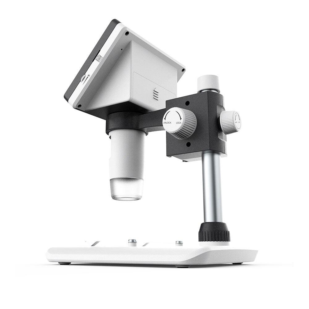 Цифровой микроскоп экран электронный микроскоп Мониторинг водонепроницаемый портативный 8LED прочный