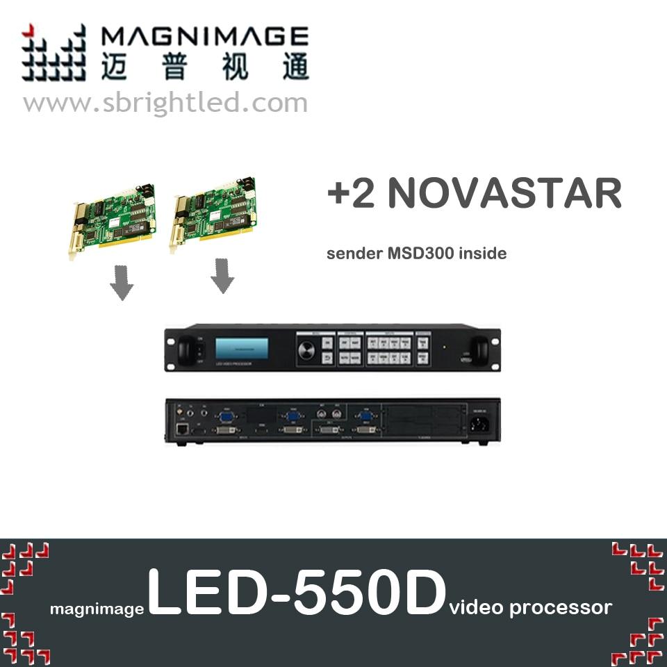 FreeshipMAGNIMAGE LED-550D + 2 NOVA novastar MSD300 led վիդեո պրոցեսորային սկալեր led550d նաև աջակցում է linsn dbstar գունային հաղորդիչին