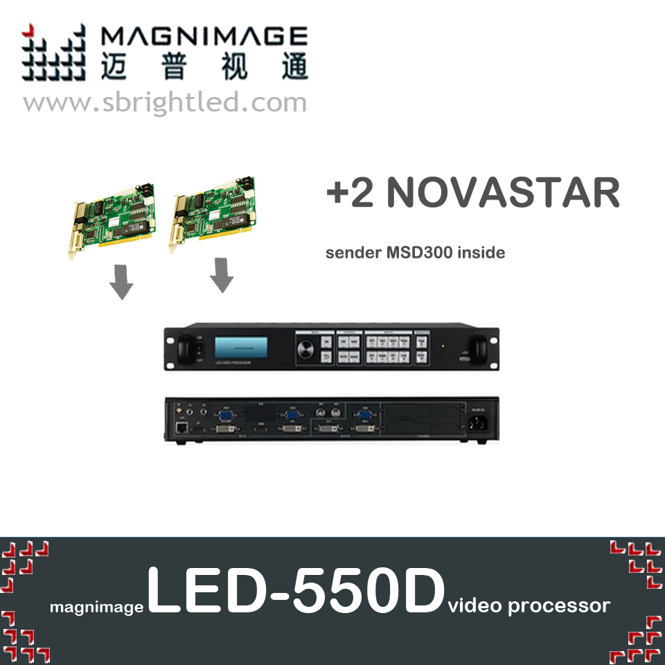 FreeshipMAGNIMAGE LED-550D + 2 nova nova star MSD300 LED processeur vidéo scaler LED 550d prend également en charge l'expéditeur de lumière colorlight dbstar linsn