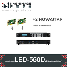MAGNIMAGE LED-550D with 2 NOVA novastar MSD300 led video processor scaler led550d also support linsn dbstar colorlight sender