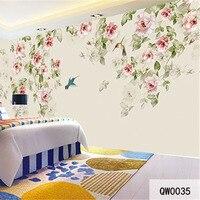 QINGCHUN Custom 3D Print Fabric Textile Wallcoverings For Walls Cloth Murals Matt Silk For Bedding Room