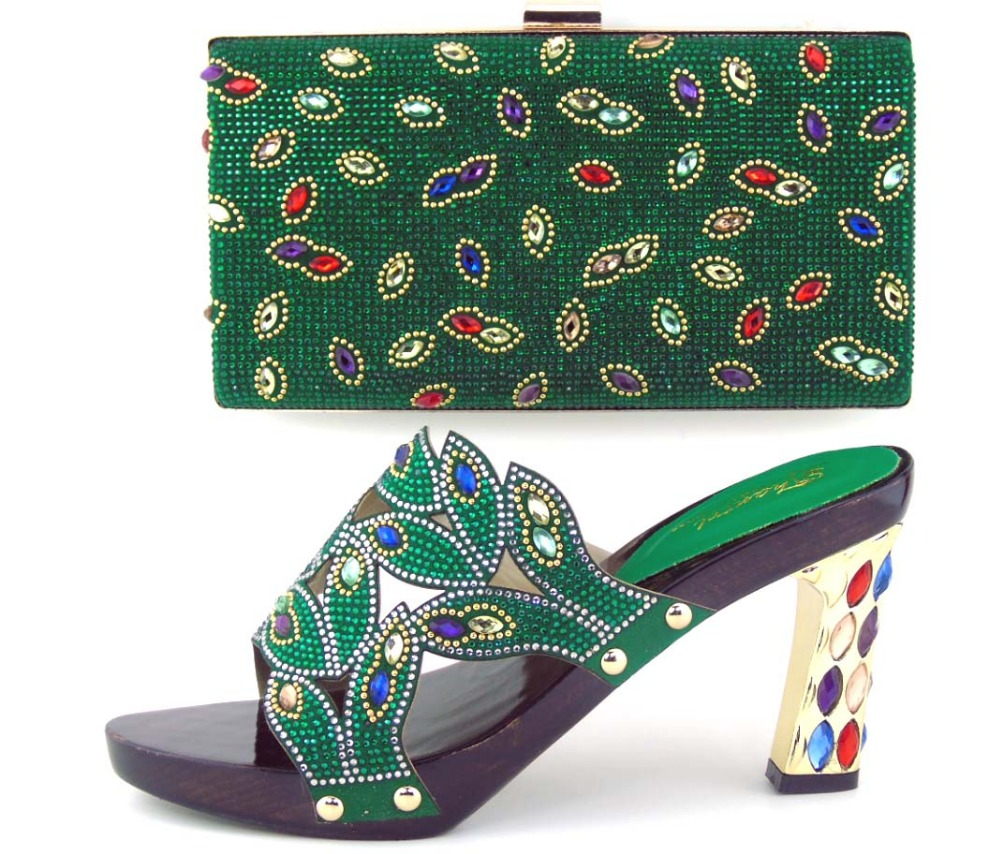 ФОТО 2016 Fashion Ladies Matching Shoes And Bags Italy/African Shoe And Bag Set For Party In Women Pumps!!MOH1-5