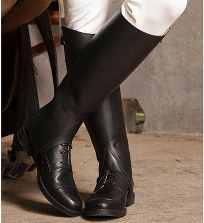 Profession Half Chaps Equestrian Chaps Full Leather Horse Riding Chaps Body Protector Equipment For Men Women And Children