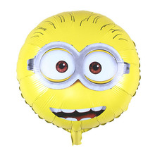 10pcs/lot 45*45cm Lovely Double-faced Despicable Me Party Minions Balloons Childrens Party Baloes Funny Decoration,ballon Helium