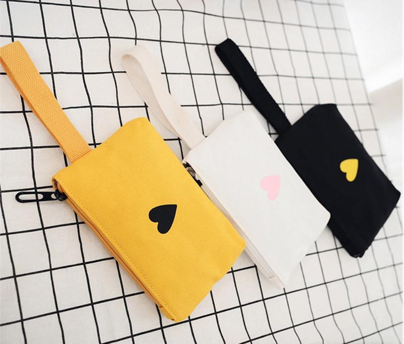 Moon Wood Women's Backpack Canvas Printed Heart Yellow Backpack Korean Style Students Travel Bag Girl School Bag Laptop Backpack