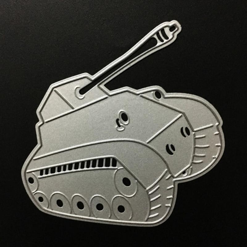 SCD055 Tank Metal Cutting Dies For Scrapbooking Stencils DIY Album Cards Decoration Embossing Folder Die Cutter Template Tools