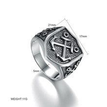 Punk Sailor Explorer 316L Stainless Steel Ring Top Quality Anchor Biker Mens Rings Man's Fashion Black Jewelry