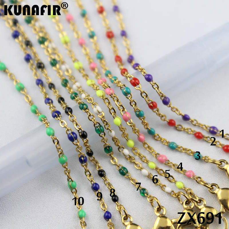 golden color 1.5mm cross chain with colors resin stainless steel necklace women fashion jewelry 10pcs-100pcs ZX691DGgolden color 1.5mm cross chain with colors resin stainless steel necklace women fashion jewelry 10pcs-100pcs ZX691DG