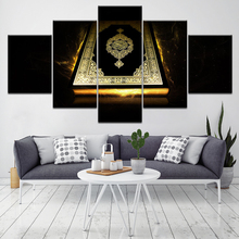 A Glowing Bible 5 Piece Wallpapers Art Canvas Print modern Poster Modular art painting for Living Room Home Decor цены