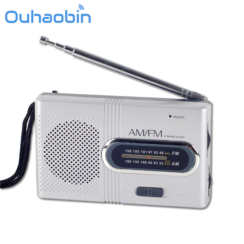 Ouhaobin Mini Portable Pocket AM/FM Telescopic Antenna Battery Powered Radio Receiver Oct 16 Dropship цена 2017