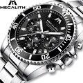 Мужские часы MEGALITH  спортивные  водонепроницаемые  с секундомером