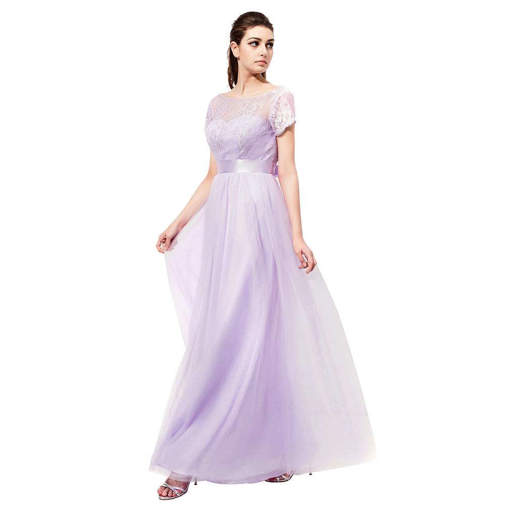0ffdc3522a6 Lavender Wedding Dresses With Sleeves