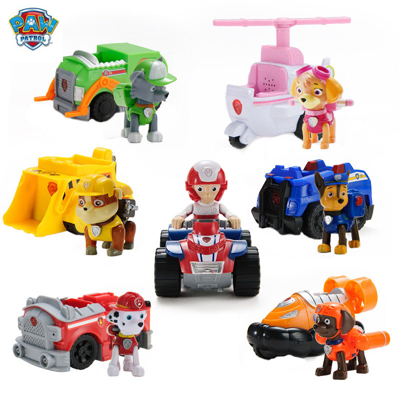 Genuine Ryder Paw Patrol Car Set Action Figure Toys Paw Patrol Skye