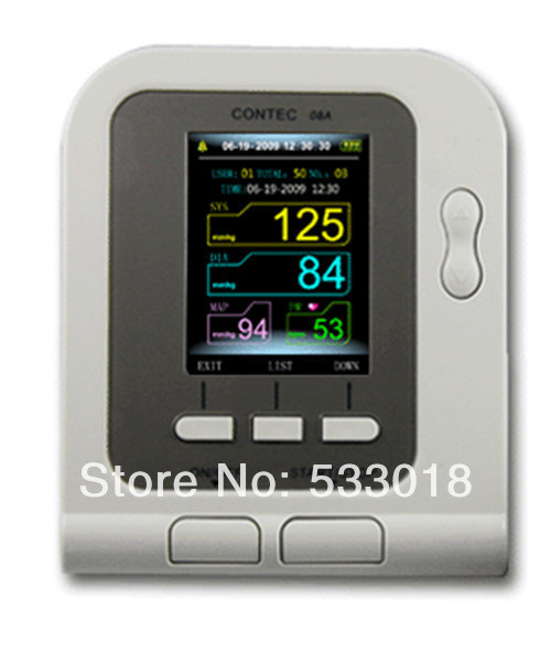 2018 NewCONTEC08A Adult Cuff Digital Automatic NIBP Blood Pressure Monitor Sphygmomanometer Free Shipping free shipping contec08c with adult spo2 sensor vet blood pressure monitor sphygmomanometer digital automatic nibp