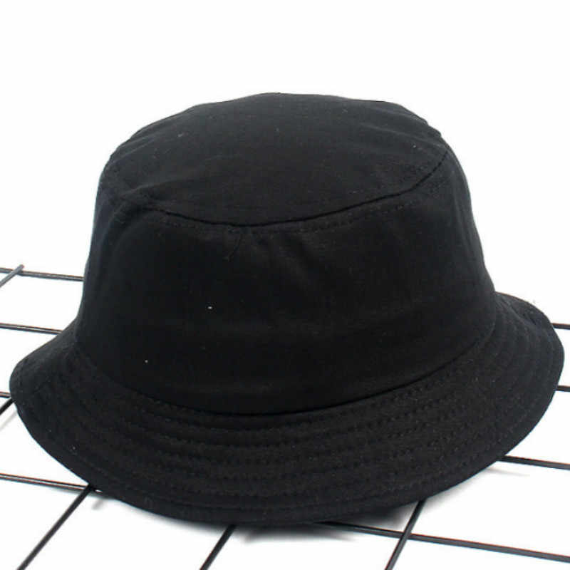 ... Children Cotton Blank Bucket Hat Hip Hop Outdoor Sunscreen Kids Summer Hat  Cap Girl Boy Sun 593afb9ad594