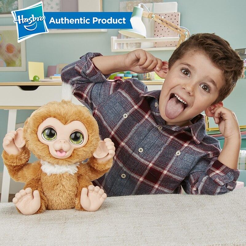 Hasbro Furreal Check-up Zandi Sweet Little Monkey Plush Stuffed Toy Can Make A Sound Child Birthday Christmas Present 5