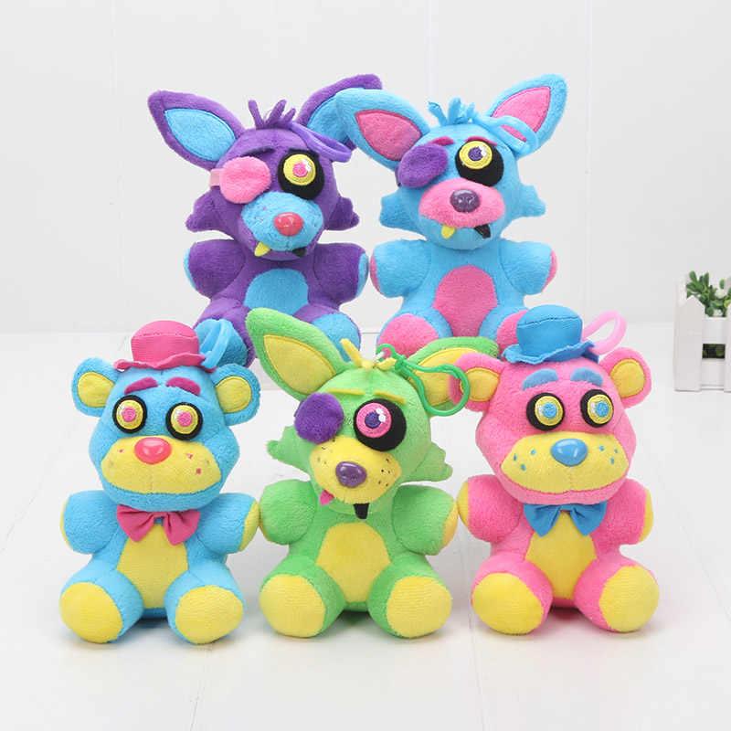 5ชิ้น/เซ็ตเกมห้าคืนที่เฟร็ดดี้ของเล่นตุ๊กตา15/25เซนติเมตรb lacklightเฟร็ดดี้หมีนีออนFoxy FNAFตุ๊กตาของเล่นตุ๊กตายัดเด็กของขวัญ