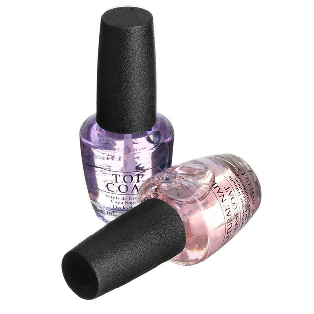 2Pcs/Set Nail Art Gel Polish High Gloss Natural Base Coat & Clear ...