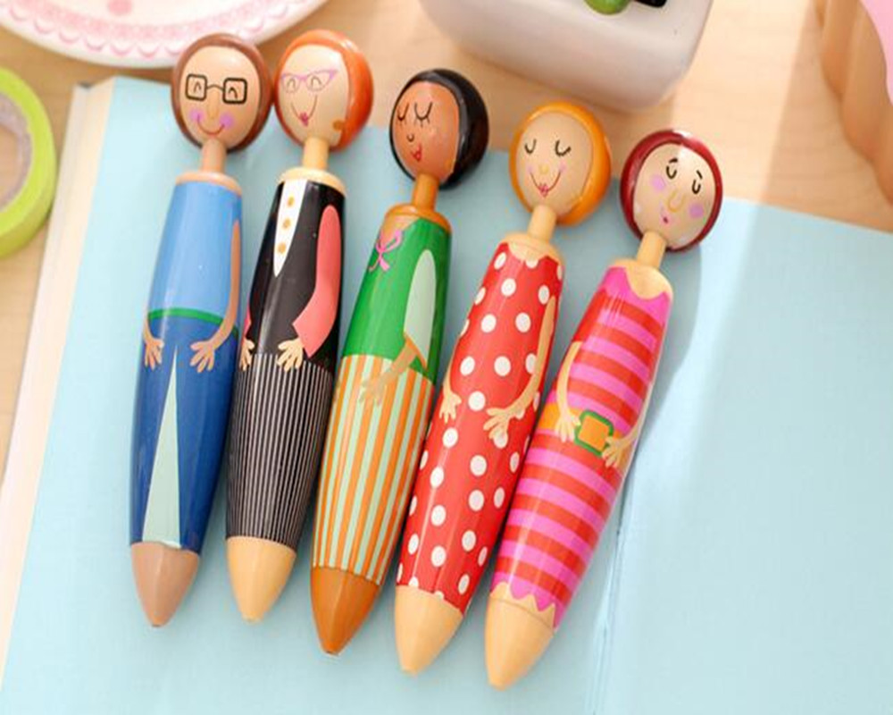 2018 New Arrival Cute Pen Cartoon  Doll Ballpoint Pen Kawaii Stationery  with the Best  Writing Gift School Office Supply