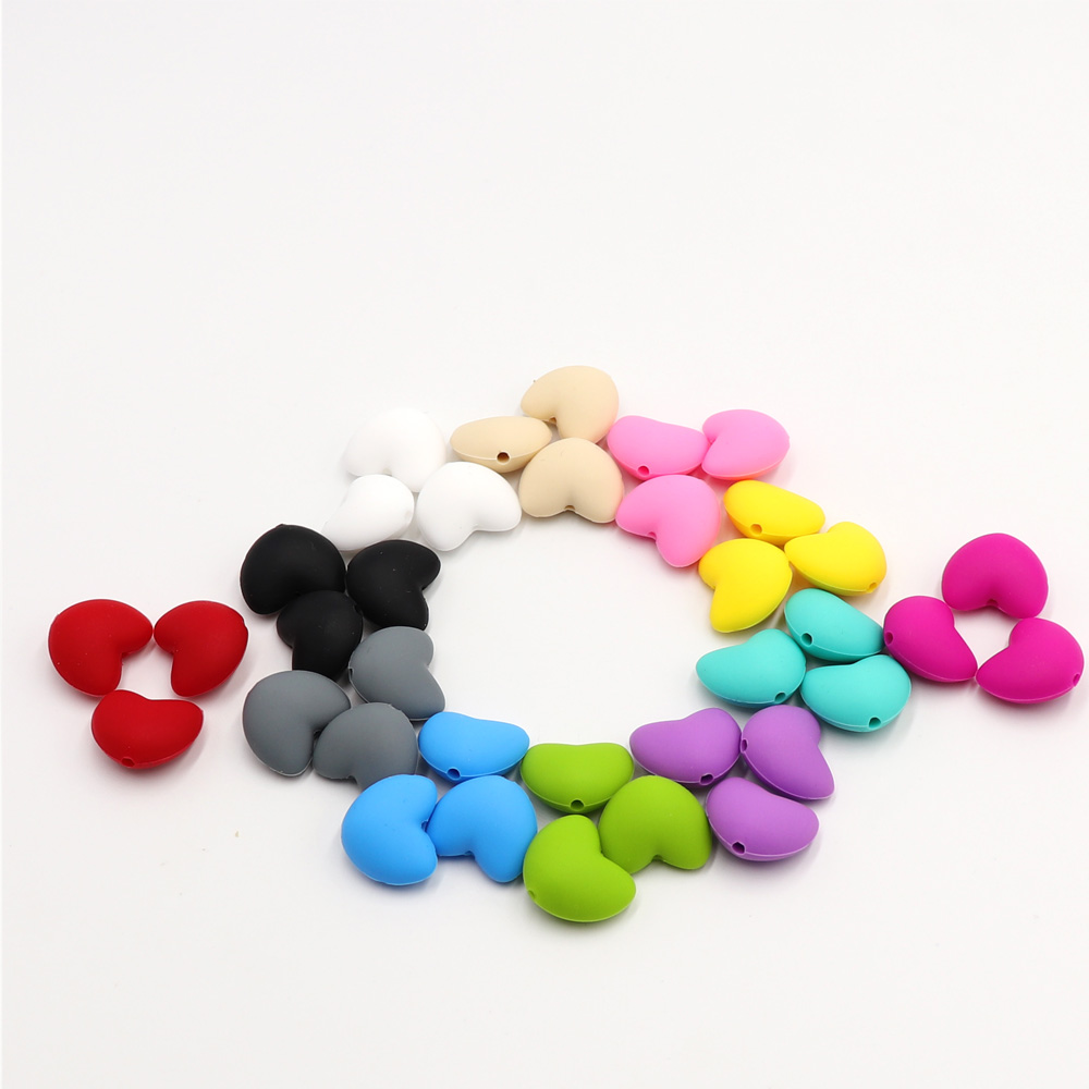 TYRY.HU 10 дана Ұнтақ Heart Shaped Silicone Beads Teething - Балаға қамқор болу - фото 3