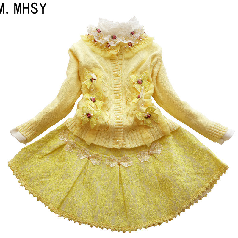 2017 winter flower princess girl dress kids teenagers clothes Christmas party dresses performance clothing children prom gown gril flower dress multi storey white clothes stage girl performance children show clothes for dance with a pair of glove