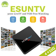 MXR PRO Android 7.1  4/32G With 1 Year Germany/Europe/Albania/French/UK/Sweden/EX-yu/US/XXX  IPTV VOD set top box