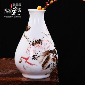 Siu Hong Jingdezhen pottery 20cm study desk small vase of flower crafts flower decoration decoration