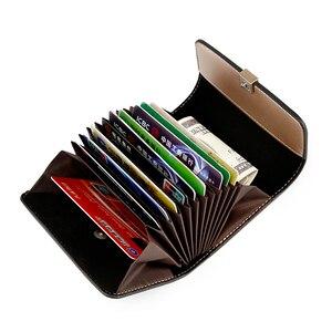 Image 5 - Брендовый женский чехол FOXER для удостоверения личности, мини кошелек для визиток, Дамский бумажник с монетницей и кармашком для карт большой вместимости