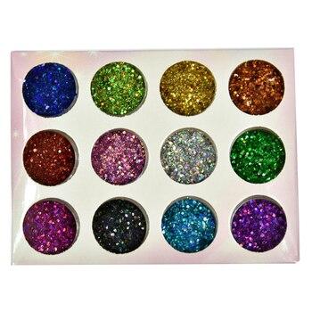 12jars/box Chameleon Aurora Nail Glitter Powders Shiny Irregular Nail Art Sequins Holographic Flakes DIY Manicure Decorations 1