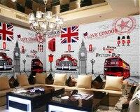 Beibehang Papier Peint Retro Fashionable Wallpapers England Simple European Style KTV Bar Backdrop Papel De Parede