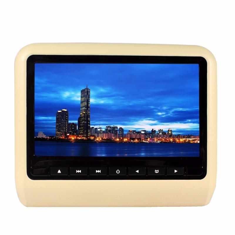 Universal 9 Car Headrest DVD Player TFT LED Screen Headrest Monitor 800*480 Game DVD USB SD IR Transmitter &Remote control