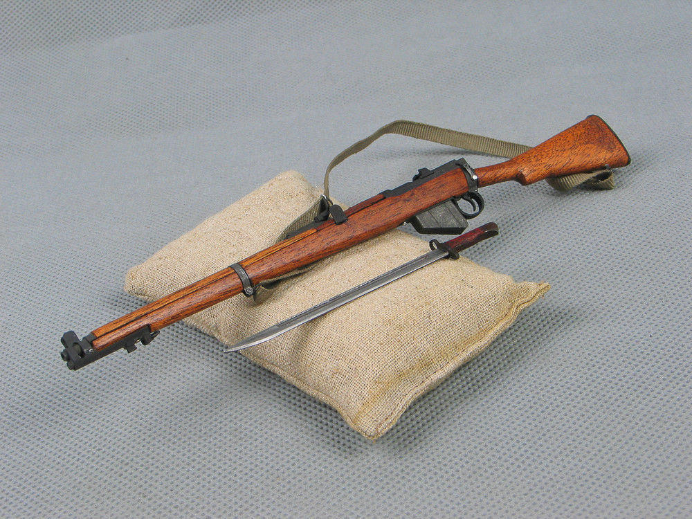 1/6 Scale Soldier Story WWII British Army Lee Enfield Rifle Metal Gun  Weapon Model Toys For 12