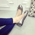 Бесплатная доставка новые 2017 женщины плоские туфли плоские документальные обувь элегантный лук для женской обуви Указал принцесса на обувь