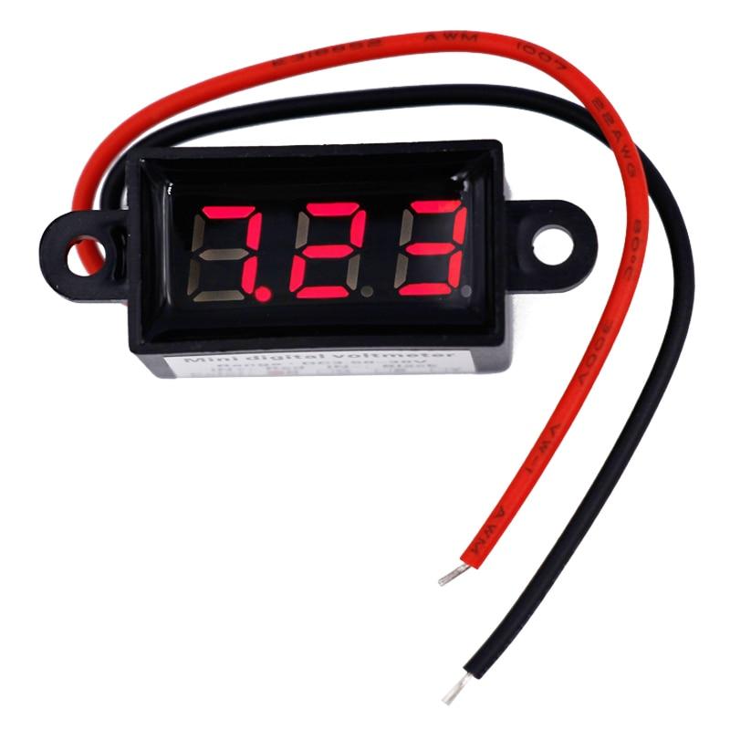 voltmetro hidroizoliacinis smūgis, atsparus smūgiams 3,5–30 V Mini skaitmeninis LED voltmetro voltų matuoklis F 30 V automobilis