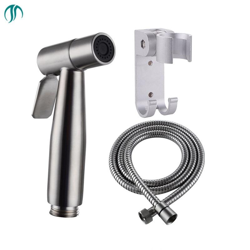 Cheap Price Portable Bidet Water Sprayer Gun Handheld Hygienic Shower Stainless Steel Toilet Bidet Tap Set Mixer Bidet Head Hygienic Shower Bidets & Bidet Parts Home Improvement