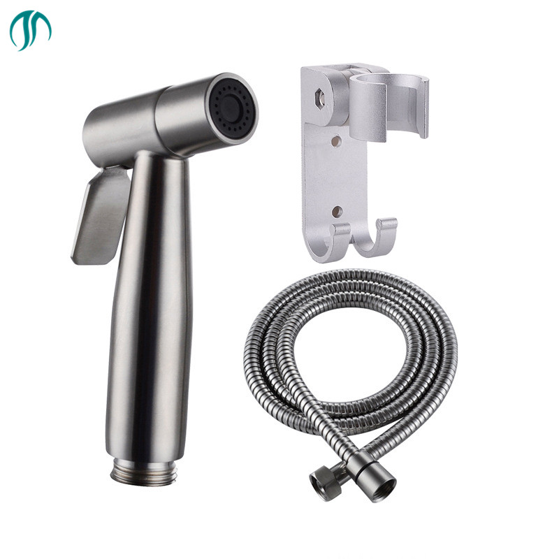handheld hygienic shower portable bidet water sprayer gun stainless steel toilet bidet tap set. Black Bedroom Furniture Sets. Home Design Ideas