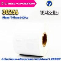 10 Rolls Dymo Kompatibel 30256 Weiß Label 59mm * 101mm 300 Pcs/Rolle Kompatibel für LabelWriter 450 turbo Drucker Seiko SLP 440 450|label dymo|dymo printer labelsdymo label printer -