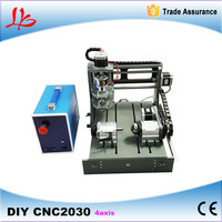 4 Axis Cnc Router 3020 300w Spindle Woodworking Lathe USB And Parallel Use