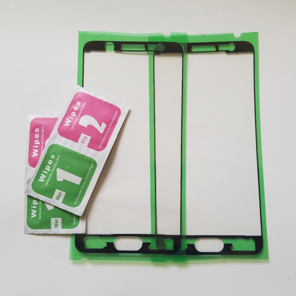 (2pcs) For Samsung Galaxy J5 Prime G570 G570F J7 Prime G610 G610F Phone Housing Frame Pre-Cut Adhesive LCD Plate Sticker Glue