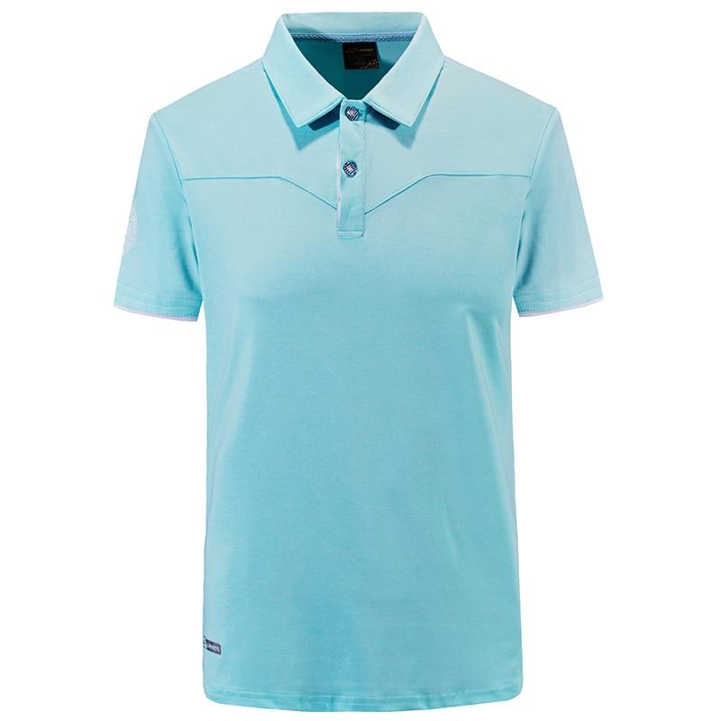 2018 Summer Short Sleeve Outdoor Camping Climbing Hiking T-shirt Men Fitness Quick Dry Running Golf T-shirts Training Polo Shirt