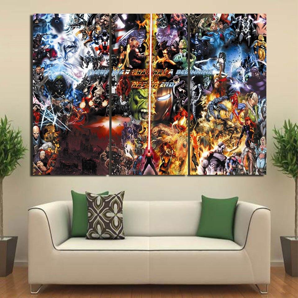 3 Panel HD Gedruckt Gerahmte Schluss Krieg Film Comic Wand Leinwand ...
