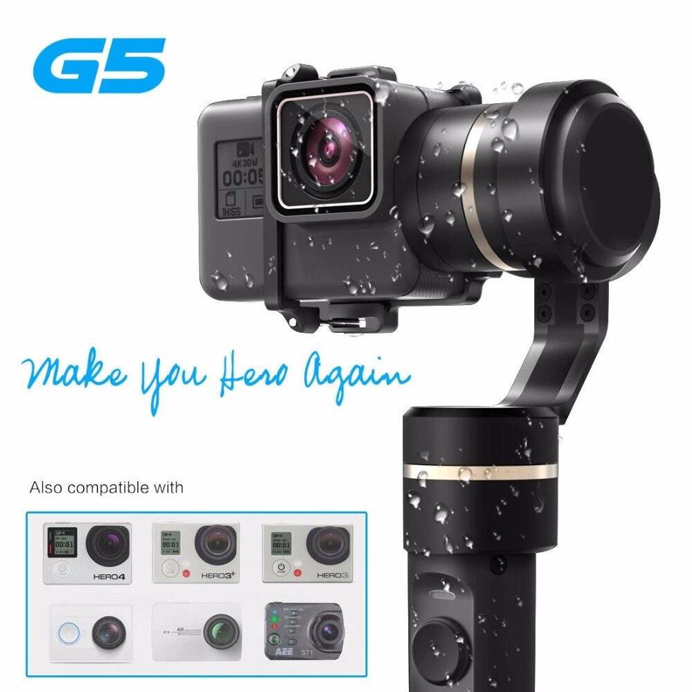 Original Feiyu G5 Handheld Gimbal Splashproof Bluetooth-enabled control for GoPro HERO 5 4 Xiaomi yi 4k SJ AEE Action Camera yuneec q500 typhoon quadcopter handheld cgo steadygrip gimbal black