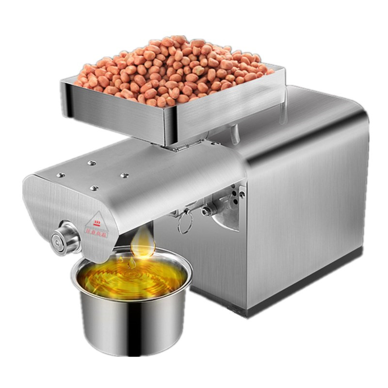 Home mini oil press olive oil extraction machine sunflower seed soybean expeller machine price 110v 220v commercial oil press machine for sale mini oil expeller seed oil extraction machine coconut almond sesame