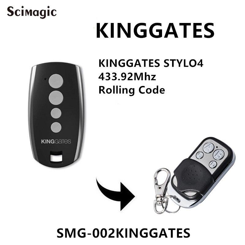 King Gates Stylo Garage/Gate Remote STYLO2K* STYLO4K* KingGates ALLEGRO 433mhz Rolling Code Transmitter