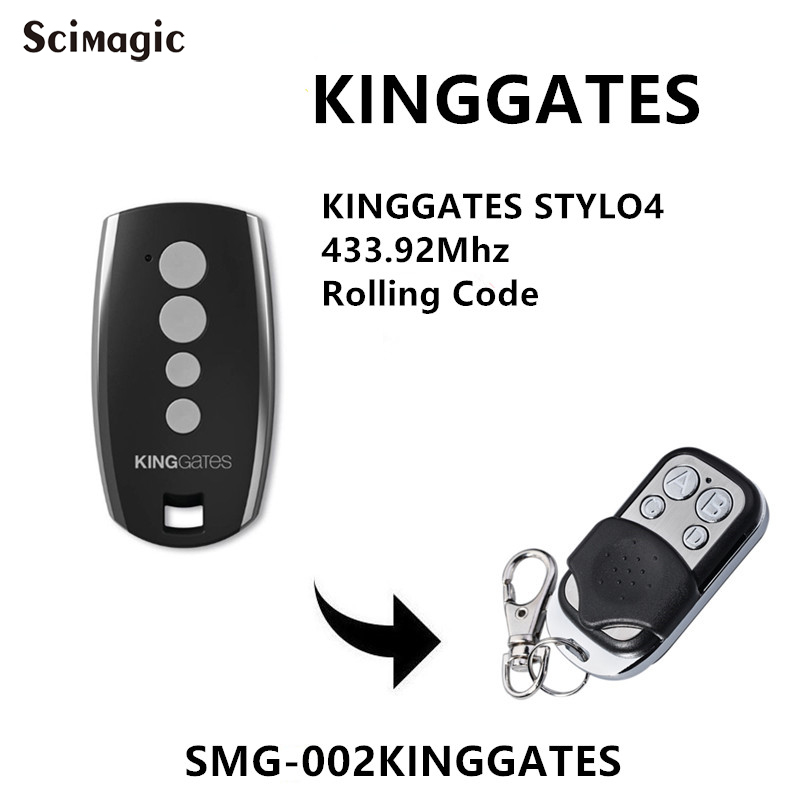 King <font><b>Gates</b></font> Stylo 4K garage <font><b>remote</b></font> replacment 433.92mhz handheld transmitter Kinggates <font><b>gate</b></font> control key fob rolling code image