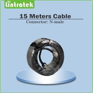 Image 5 - Lintratek תלת להקת 2G 3G 4G עבור GSM 900 + LTE 1800 + WCDMA 2100 MHz נייד אות Booster מגבר סט עם 2 מקורה אנטנה @ 5.4